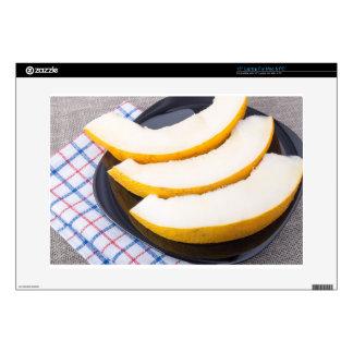 Postre de las rebanadas amarillas dulces del melón portátil skin