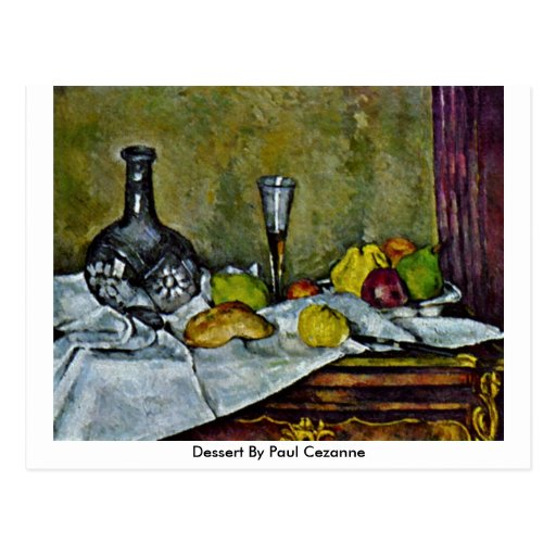 Postre de Paul Cezanne Tarjetas Postales