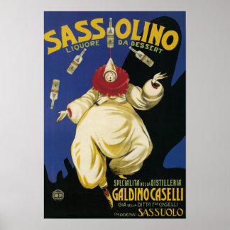 Postre de Sassolino Liquore DA promocional Póster