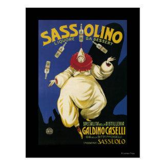 Postre de Sassolino Liquore DA promocional Tarjetas Postales