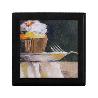 Postre dulce de los pasteles de la invitación de l joyero cuadrado pequeño