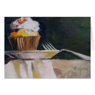 Postre dulce de los pasteles de la invitación de l tarjeton