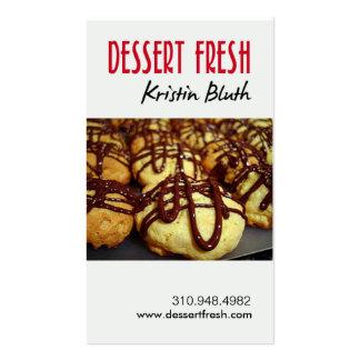 Postre fresco, pasteles, chef de repostería, panad plantillas de tarjetas de visita