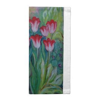 Postre helado del tulipán servilleta imprimida
