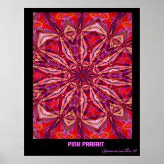 Postre helado rosado: Poster del arte abstracto