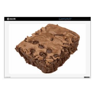 Postre Scrumptious del dulce del brownie Calcomanías Para Portátiles