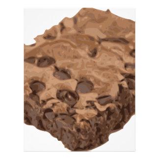 Postre Scrumptious del dulce del brownie Membrete