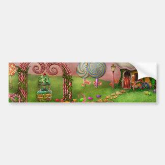 Postre - sueños dulces pegatina de parachoque