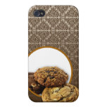 Postres del damasco del chocolate iPhone 4 cárcasas