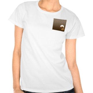 Postres del damasco del chocolate camisetas