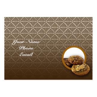 Postres del damasco del chocolate tarjetas personales