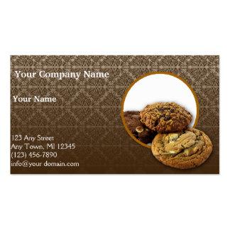 Postres del damasco del chocolate tarjeta de visita