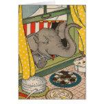 Postres del elefante tarjeta