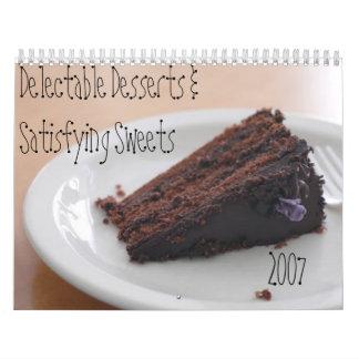 Postres deliciosos calendarios