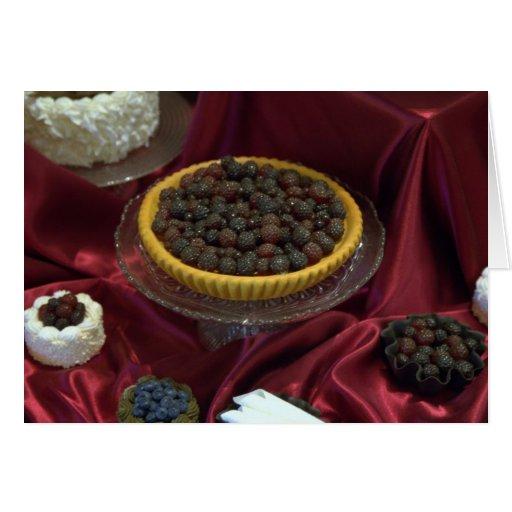 Postres dulces del día de fiesta tarjeta de felicitación