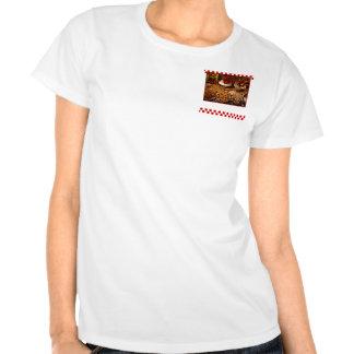 Postres rojos de la teja camiseta