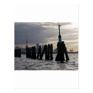 Posts and Skyline Postcard