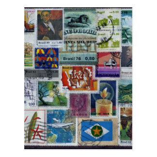 Poststamp-themed Postcard
