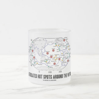 Postulated Hot Spots Around The World (Geology) Coffee Mugs