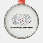 Postulated Hot Spots Around The World (Geology) Round Metal Christmas Ornament