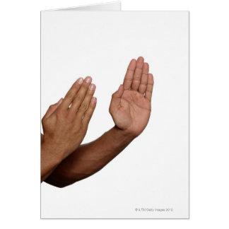 Postura 2 del karate tarjeta de felicitación