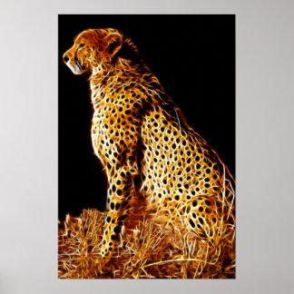 Postura de los guepardos posters
