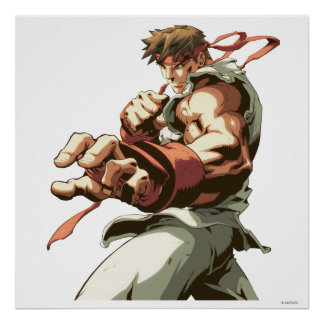Postura de Ryu Posters