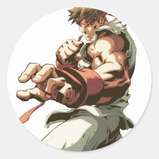 Postura de Ryu Pegatinas Redondas
