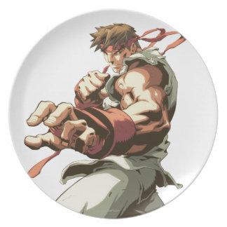 Postura de Ryu Plato Para Fiesta