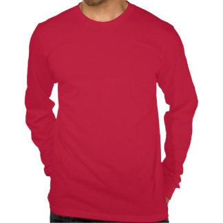 Postura del milenio (cuello doblado) camisetas