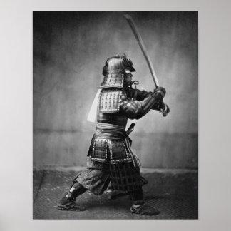 Postura del samurai poster