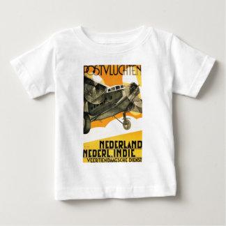 POSTVLUCHTEN PLANE. Retro vintage airliner ad 1933 Baby T-Shirt