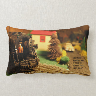Postwar Lionel Model Train Scene - Pillow