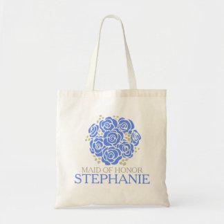 Posy blue Maid of honor wedding favor bag