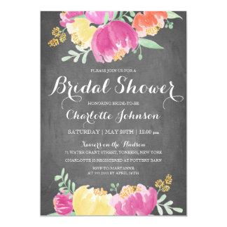 Posy Garden Chalkboard   Bridal Shower Card