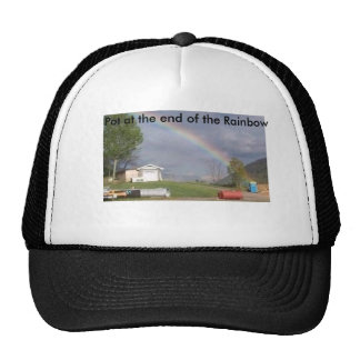pot at the end of the rainbow trucker hat