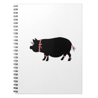 Pot Bellie Pig Girl Spiral Notebook