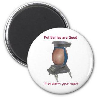 Pot Belly 2 Inch Round Magnet