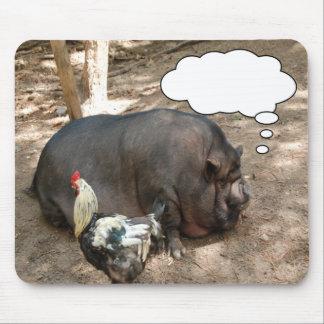 Pot Belly Pig & Friend Mousepad