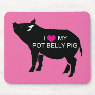 Pot Belly Pig Mouse Pad