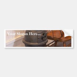 Pot Belly Stove Car Bumper Sticker