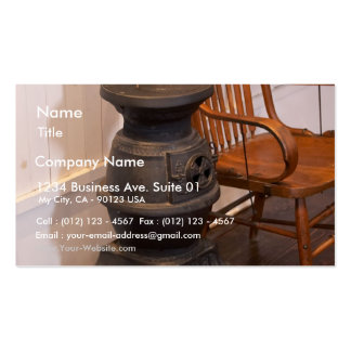 Pot Belly Stove Business Card Template
