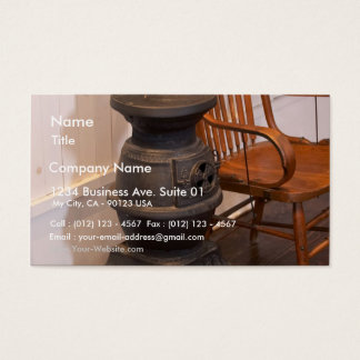 Pot Belly Stove Business Card