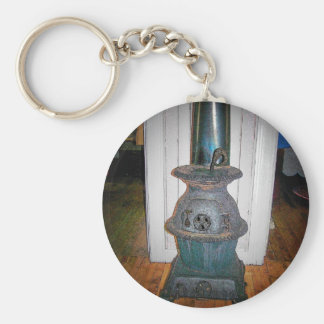 Pot Belly Stove Keychain