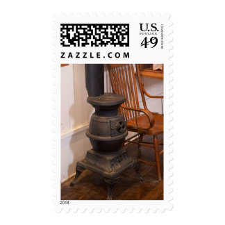 Pot Belly Stove Postage Stamp