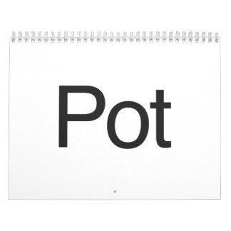 Pot Wall Calendar