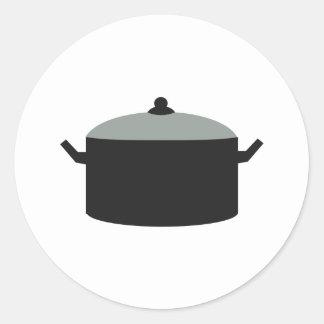 Pot Classic Round Sticker