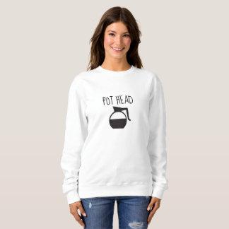 'Pot Head' Crew Neck Womens Sweater