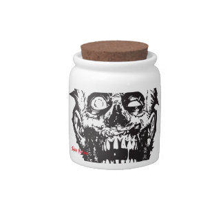 Pot Jar, Zombie Head, Slave Nation Candy Dishes