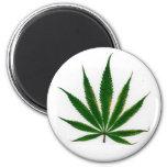 Pot Leaf 2 Inch Round Magnet